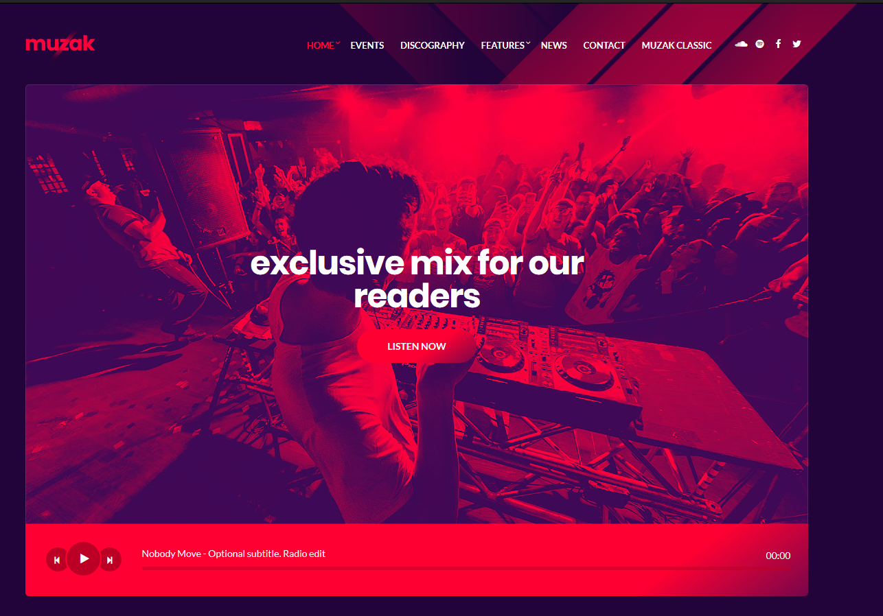 Muzak WordPress Theme