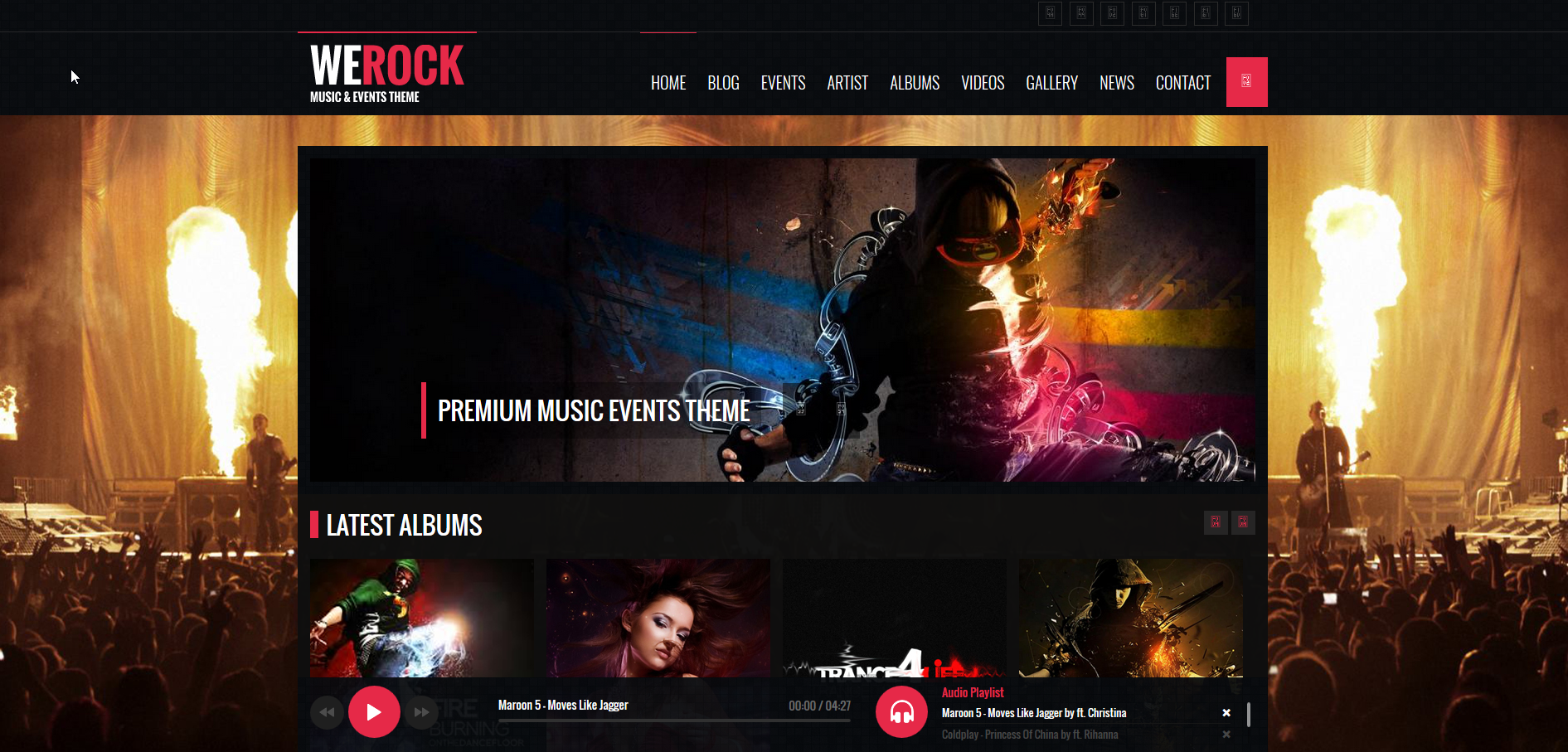 We Rock HTML Template